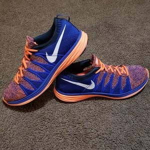 nike flyknit lunar 2 racer chukka blue orange